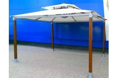 Беседка деревянная, прямоугольная крыша, шатер «Лагуна-2» 4х4 м