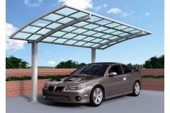 Навес алюминиевый с крышей в виде арки TGI-2, одиночный