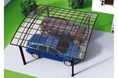 Навес алюминиевый с крышей в виде арки TGI-4, двойной