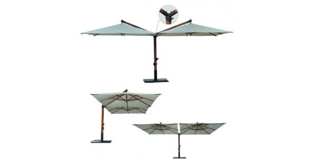 Зонт двухкупольный «Дабл Верона» V или Т-образный - 4х8м