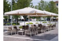 Зонт уличный «Флоренция», квадратный купол - 4х4м