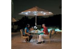 Зонт «Палермо», круглый, встроенное освещение - 3м