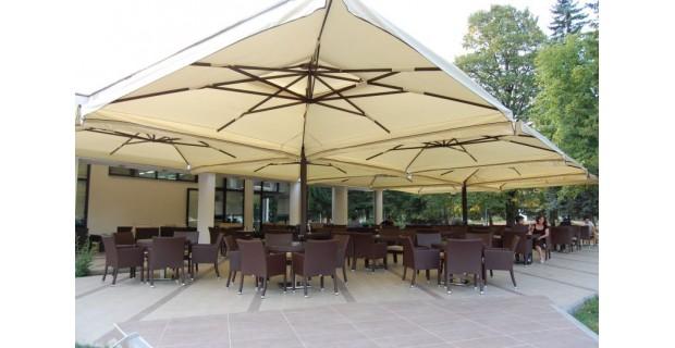 Зонт четырехкупольный «Пекин», консольный - 6х6м