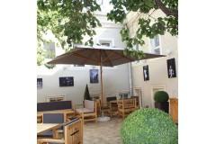 Зонт уличный «Рим», квадратный купол – 3х3м
