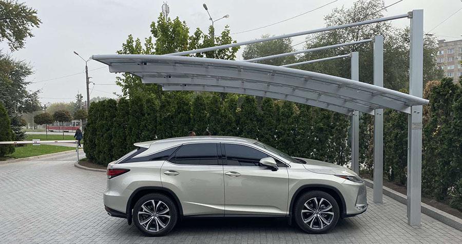 Навес алюминиевый с поликарбонатной крышей